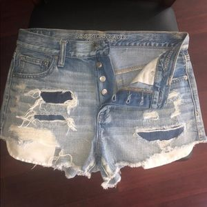 American Eagle and Aeropostale Jean Shorts